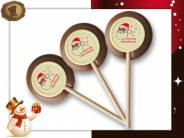 Chocolade lollies  Merry Christmas