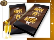 "Chocolade kaart / tablet <br/>""Happy New Year"""