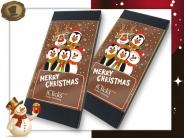 Chocolade Kerstkaart <br/>met uw logo