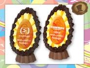 Chocolade Paasei met standaard bedrukking + logo