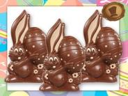 Chocolade Paashaas <br/>met EI - deco beige