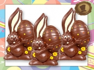 Chocolade Paashaas <br/>met EI - 60 gram