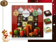 Kerst Pralines 16 stuks Kerstballen met cadeaus