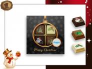 Kerst Pralines 4 stuks Kerstbal zwart-goud