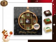 Kerst Pralines 9 stuks Kerstbal zwart-goud