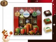 Kerst Pralines 9 stuks Kerstballen met cadeaus