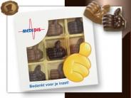Chocolade Complimentje versturen per post